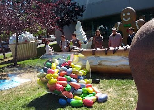 Google Jelly Bean statue