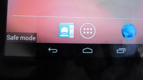 Android 4.1 Safe Mode