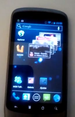 Google Nexus One with Android 4.0 Ice Cream Sandwich