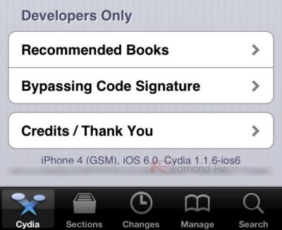 iOS 6 jailbroken