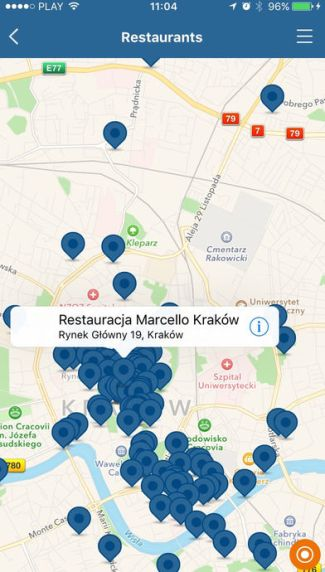 Kraków.pl dawna aplikacja myKRK (screen)
