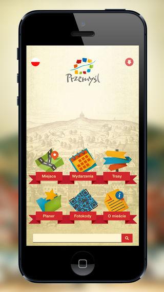 Screen aplikacji mobilnej Mobilny Przemyśl