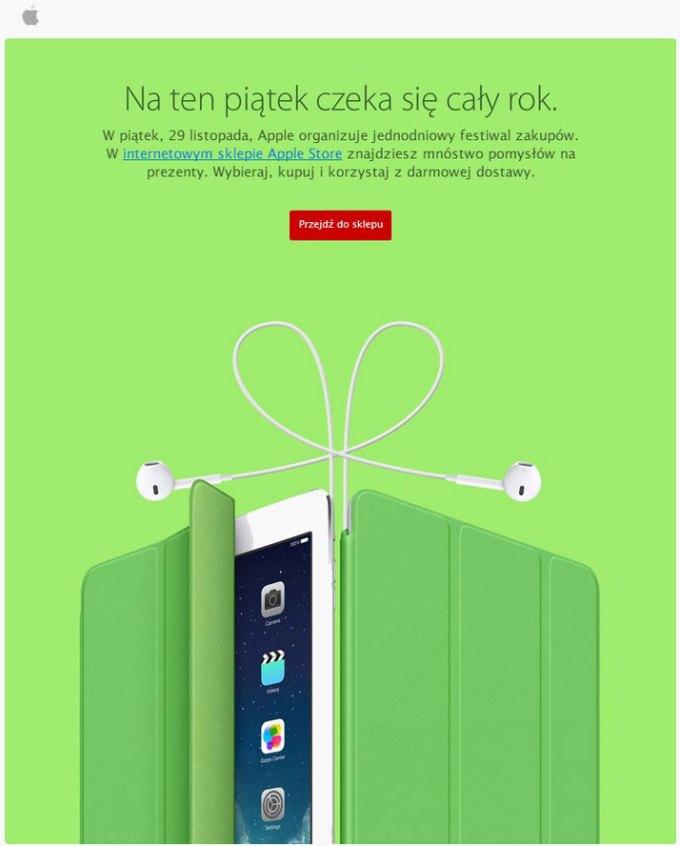 Festiwal zakupów Apple - e-mail