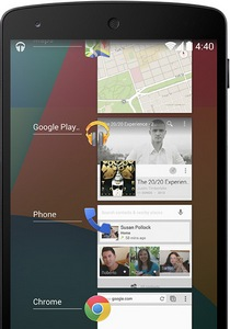 Android 4.4 KitKat wielozadaniowość