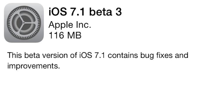 iOS 7.1 beta 3