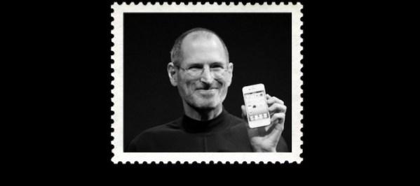 Pamiątkowy znaczek pocztowy ze Steve'em Jobsem