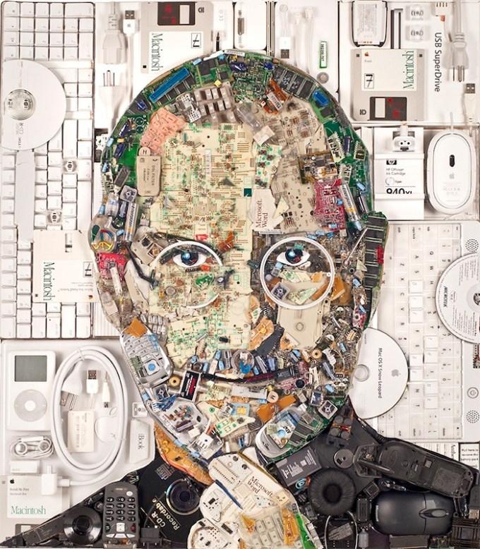 Steve Jobs - portret z e-odpadów