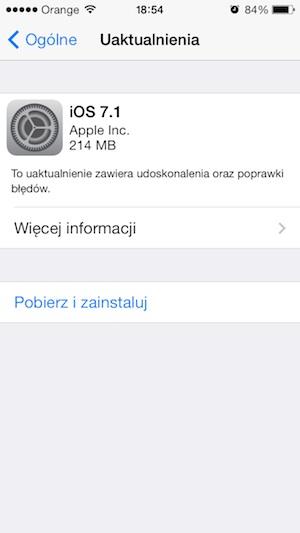 iOS 7.1 iPhone 5