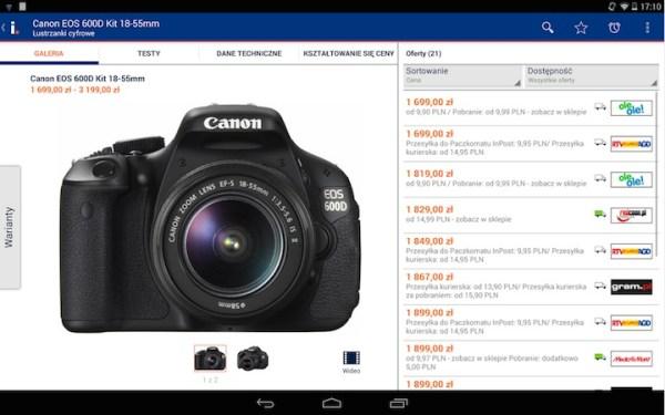 Idealo – mobilna wersja porównywarki cen