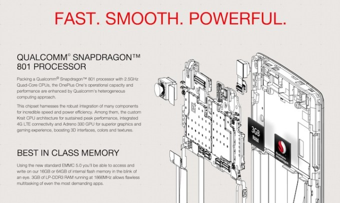 OnePlus One Snapdragon procesor