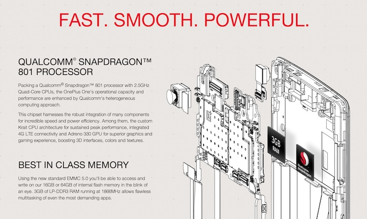OnePlus One Snapdragon procesor