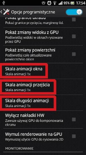 Skale animacji w systemie Android