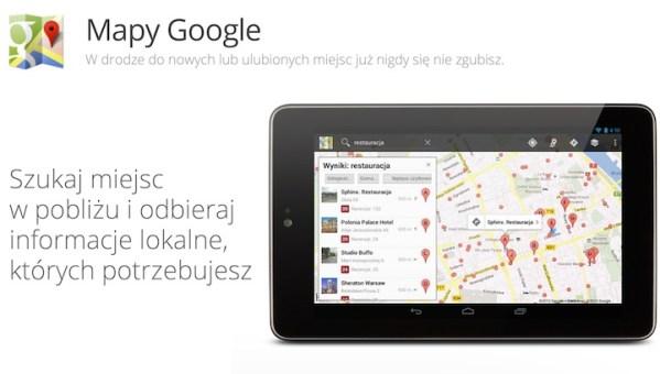 Mapy Google 3.0 z trybem offline i wyszukiwaniem głosowym