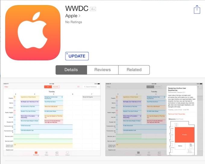 Aplikacja WWDC