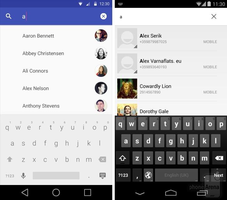 Aplikacja Kontakty w Androidzie