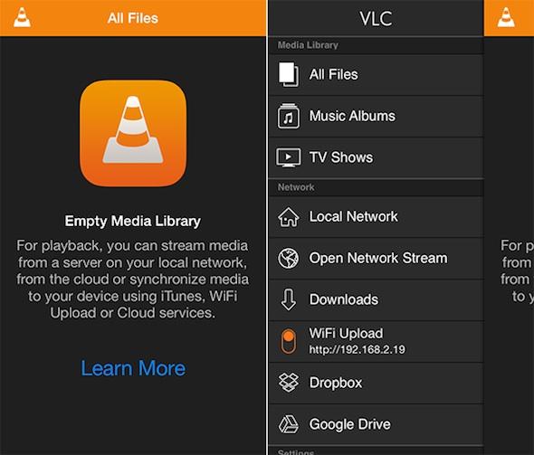Aplikacja VLC for iOS