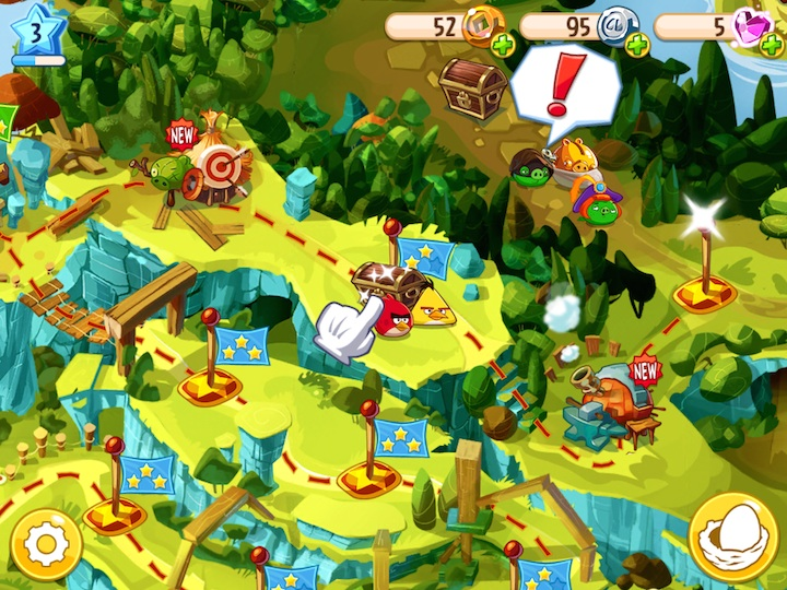 Angry Birds Epic screen game iOS