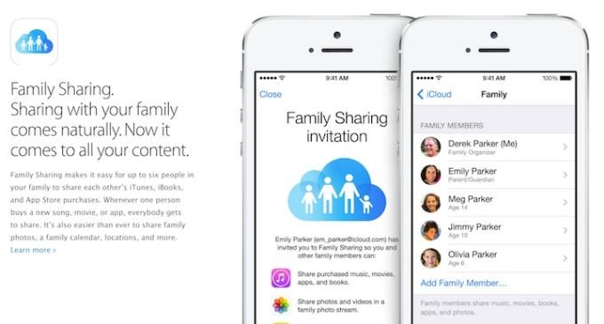 Family Sharing w iOS 8 (dzielenie się z rodziną)