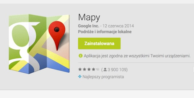 Mapy Google w Google Play