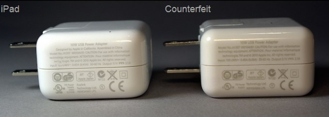 różnica między podróbką a oryginalną ładowarką do iPada
