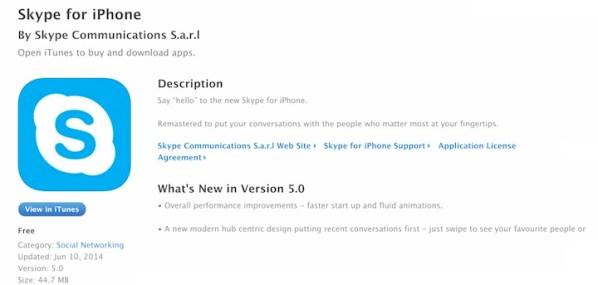 Skype 5.0 już dostępny w App Storze