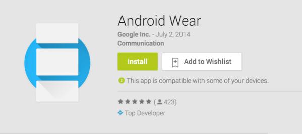 Aplikacja Android Wear dostępna do pobrania