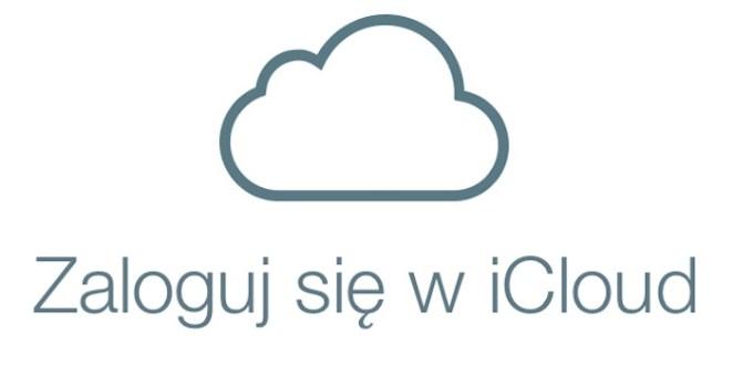 Zaloguj się w iCloud