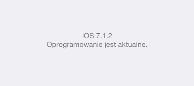 iOS 7.1.2 na iPhone'ie 5