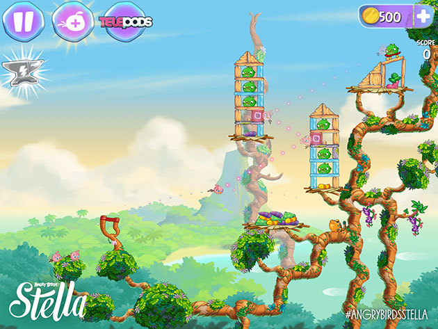 Angry Birds Stella - screen z gry