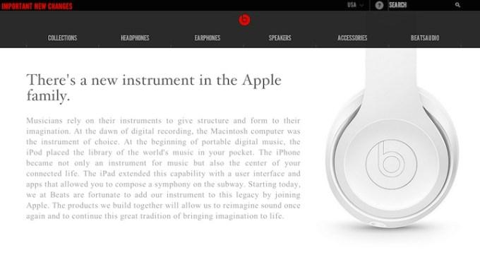Beats - komunikat w sprawie przejęcia przez Apple.