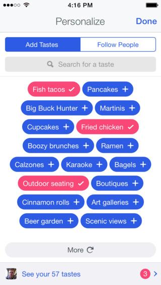 Foursquare personalizacja