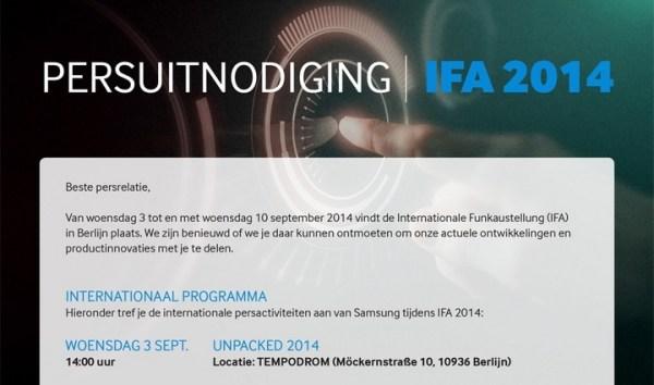 Samsung zaprasza na premierę Galaxy Note 4 już 3 września?