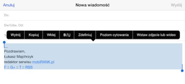 Jak stworzyć podpis e-mail w formacie HTML na iPhone'a i iPada