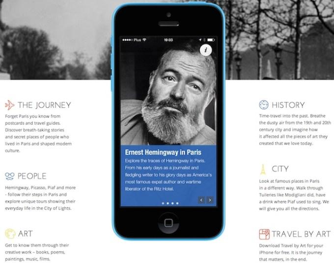 TravelbyArt - cechy aplikacji