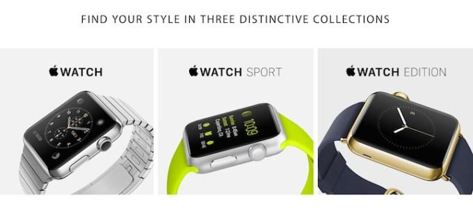 Apple Watch - warianty