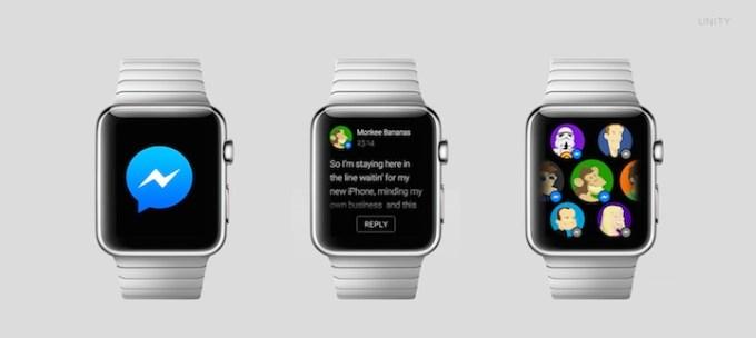FAcebook Messanger na Apple Watch