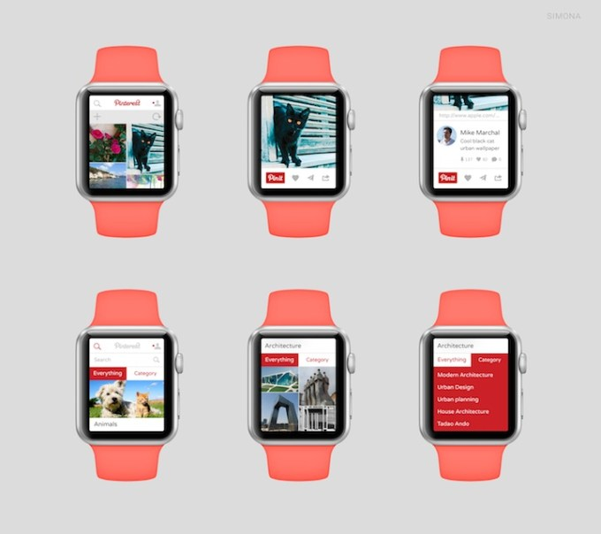 Pinterest na Apple Watch