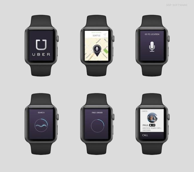 Uber na Apple Watch