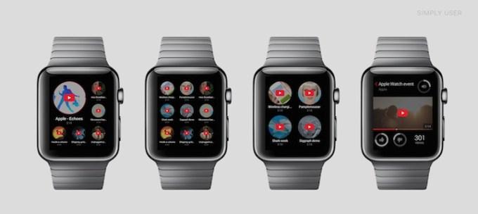 YouTube na Apple Watch