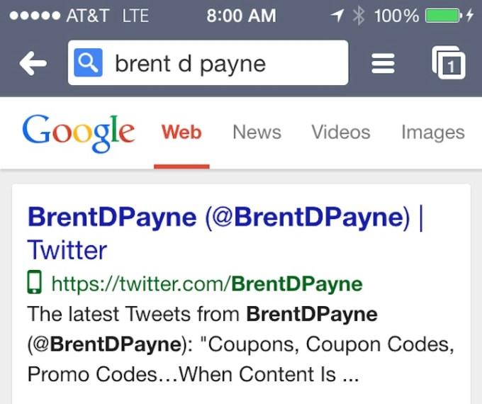 Ikona Google - strona przystosowana do mobile'a