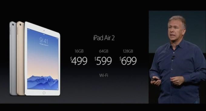 Cena iPada Air 2