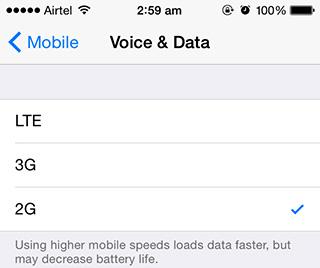 Ustawienia sieci komórkowej pod iOS-em 8.1