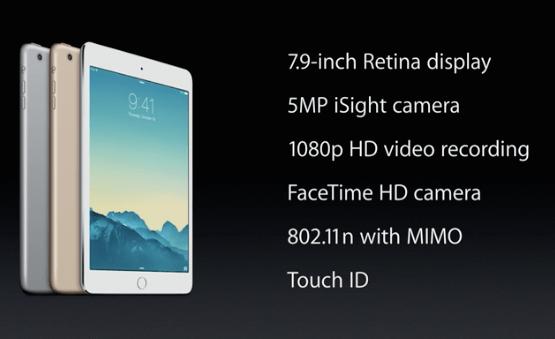 Specyfikacja iPada mini 3