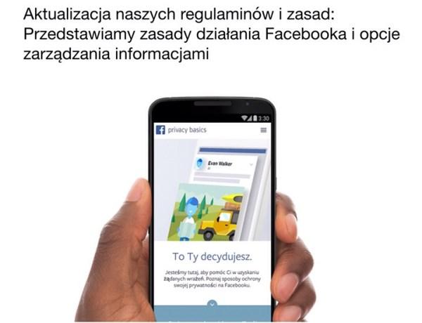 Zmiany w regulaminie Facebooka od 1 stycznia 2015 r.