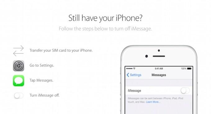 Wyłączenie iMessage przez iPhone'a