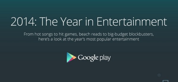 2014: Year in Entertainment – infografika od Google'a