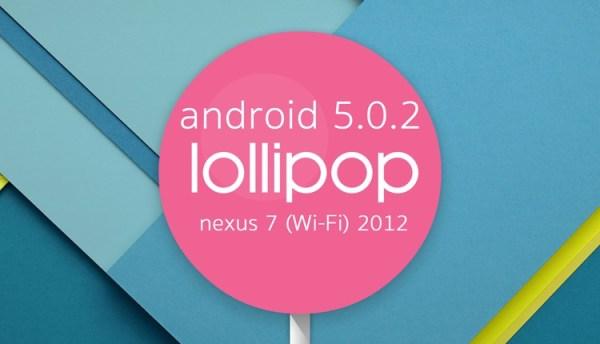 Android 5.0.2 dla Nexusa 7 (Wi-Fi 2012) w trybie OTA