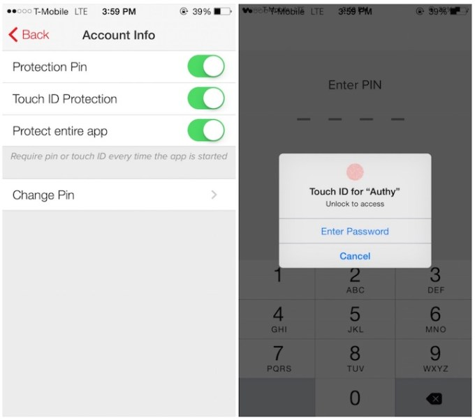 The best apps with Touch ID support of 2014 - Authy