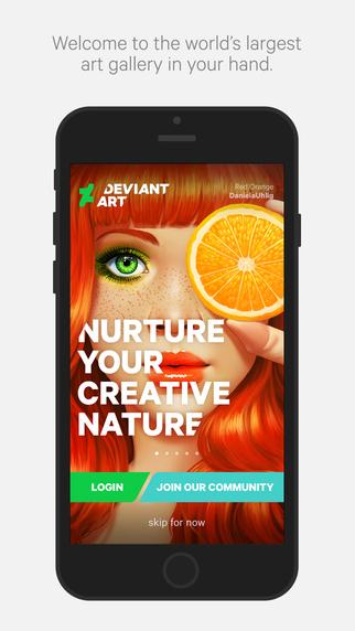 DeviantArt - aplikacja mobilna iOS