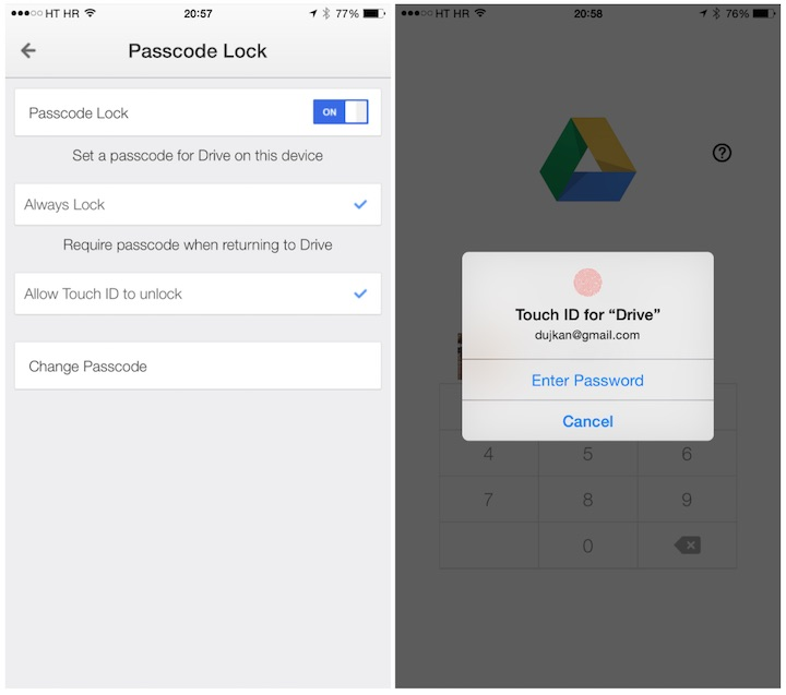 The best apps with Touch ID support of 2014 - Google Drive